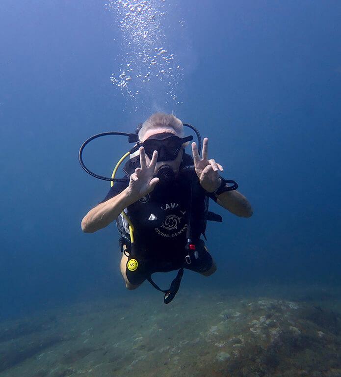 Hans Georg Kehse diving