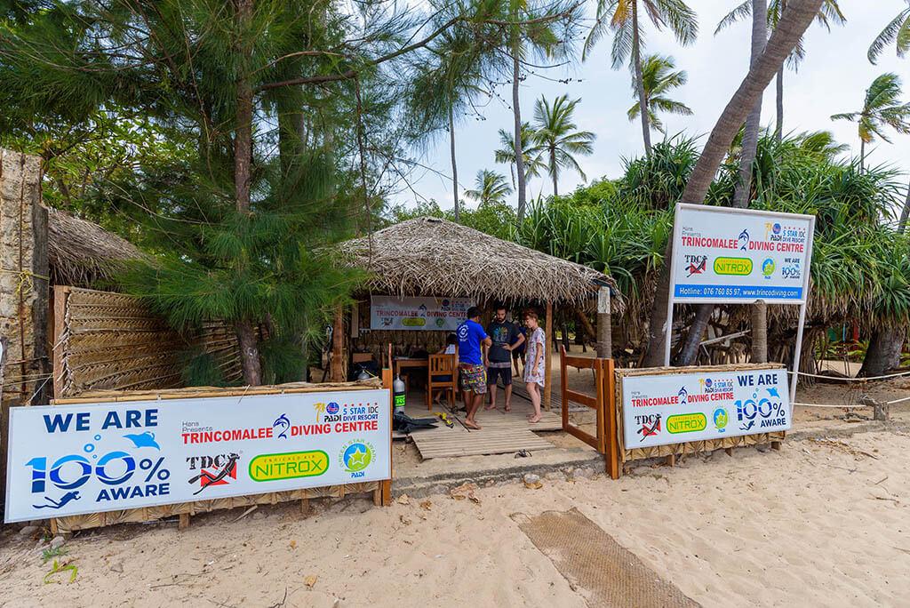 Trincomalee diving centre known as Divinguru Trincomalee, located directly on the Uppuveli Beach in Trincomalee, Sri Lanka