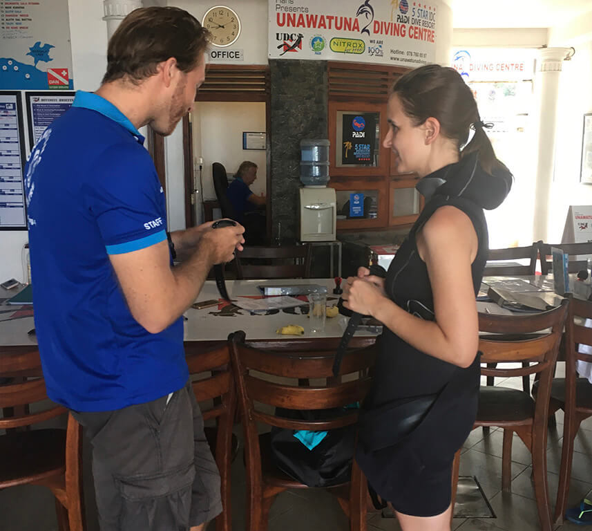 PADI advanced open water course compass navigation with Divinguru