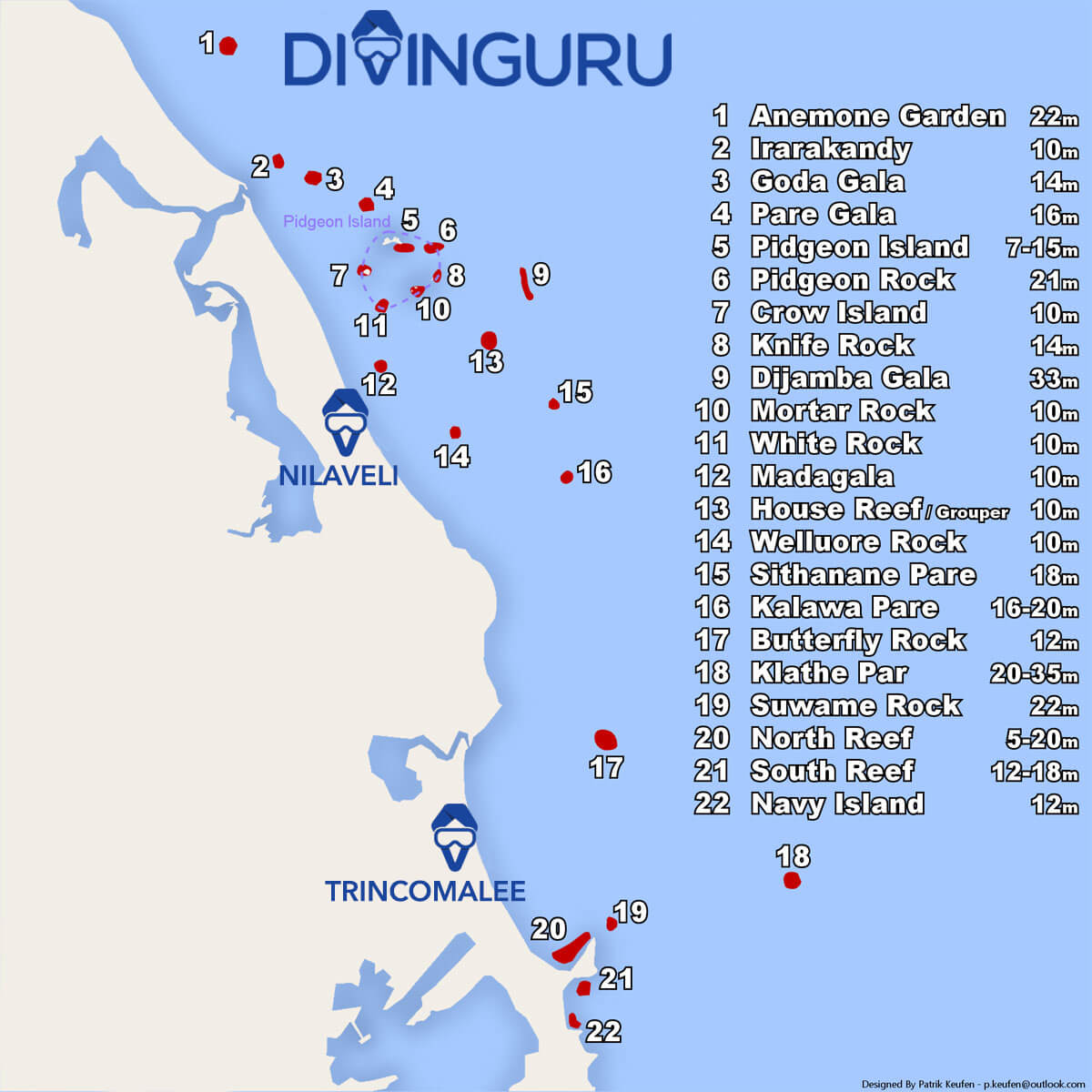 best scuba diving spots and snorkeling sites in Nilaveli and Trincomalee east coast Sri Lanka