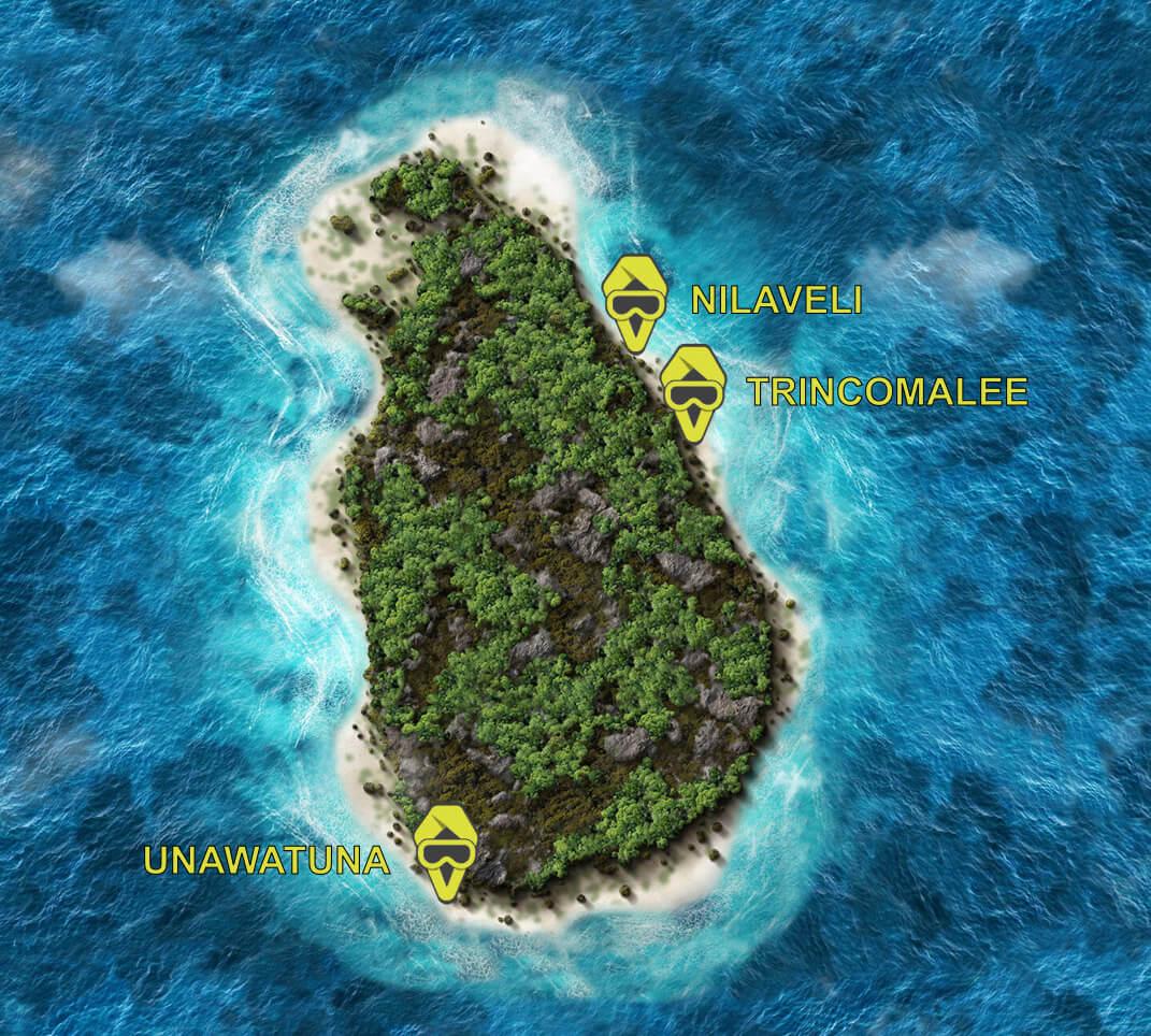 Divinguru dive centres in Unawatuna, Nilaveli and Trincomalee Sri Lanka