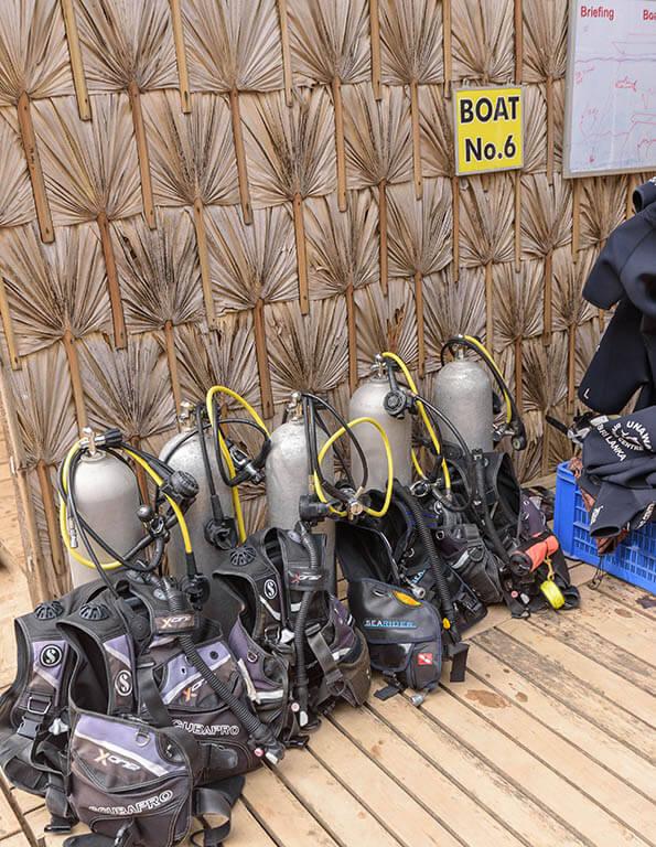 Scubapro dive equipment at our Divinguru Nilaveli diving centre