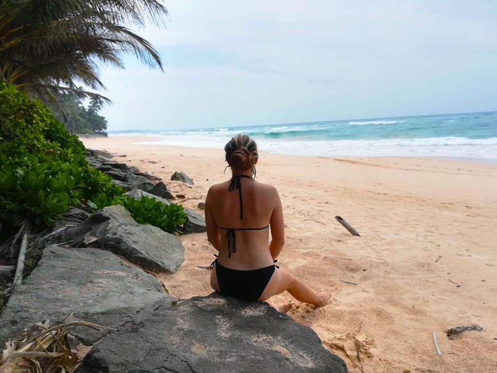 long sandy Sri Lankan beach between Habaraduwa to Koggala