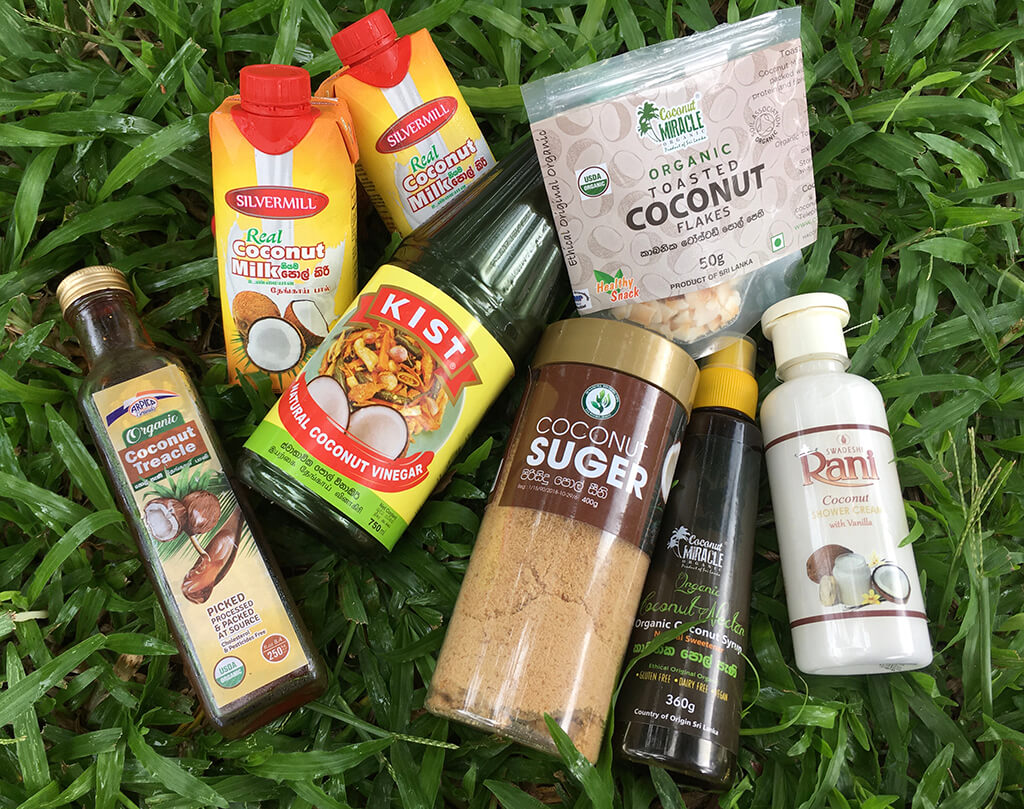 natural local coconut products from Sri Lanka